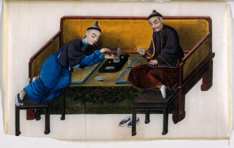 Two Wealthy Opium Smokers
